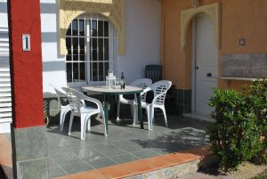 Sunny terrace with barbeque facilities
